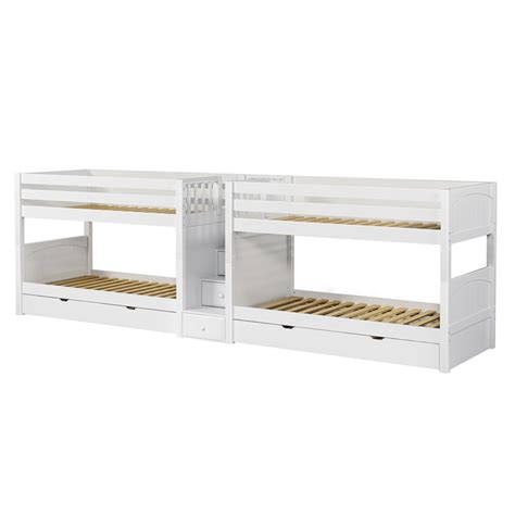 low bunk beds with stairs maxtrix wonderful mega low bunk bed with stairs