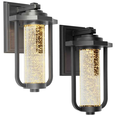 led outdoor wall light fixtures artcraft ac9012 traditional 8 quot wide led