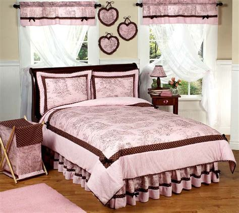 pink and brown comforter set jojo pink brown toile kid size