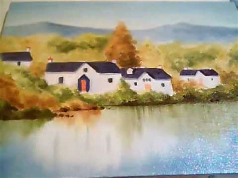 bob ross painting real lakeside homes bob ross style painting