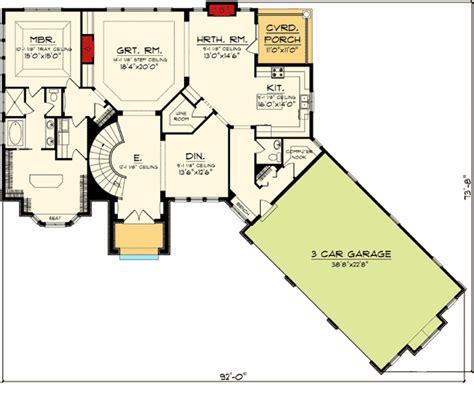 walkout ranch floor plans ranch home plan with walkout basement 89856ah ranch