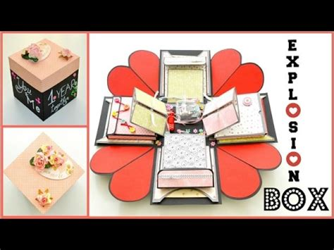 paper crafts for boyfriend valentines day exploding box kalpli kutu yapimi