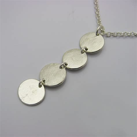 how to make fingerprint jewelry silver silver fingerprint necklace