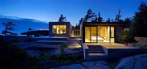 modern mansion house architecture luxury cottage home in canada this island cottage is