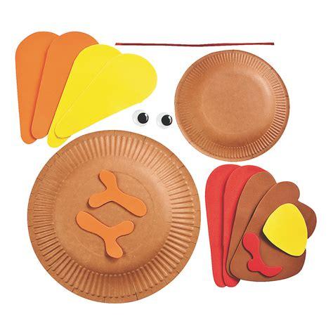 paper plate turkey crafts paper plate turkey craft kit trading