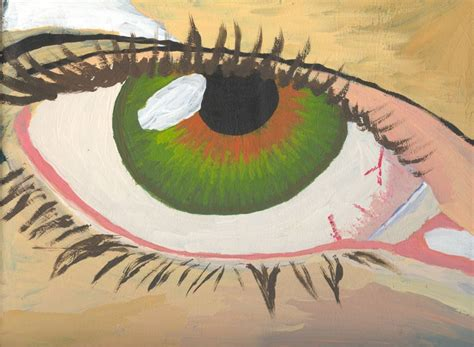 acrylic paint eye zanthir s my left eye painted in acrylic paint by
