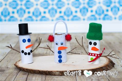 toilet paper roll snowman craft how to craft a toilet paper roll snowman