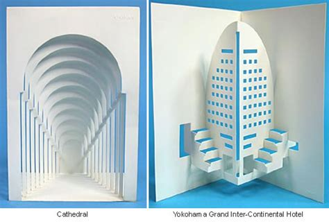Ingrid Siliakus origamic architecture stunning sculptures cut out of