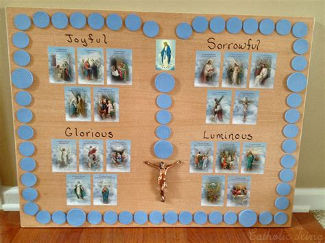 catholic craft projects how to make a rosary board to use with move a