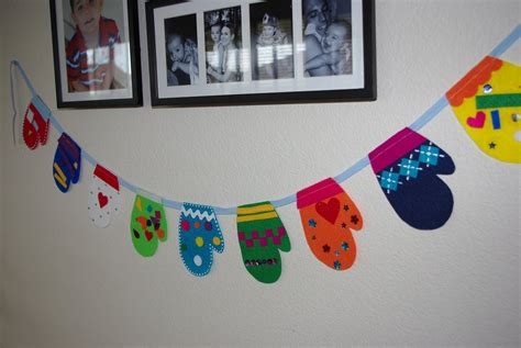 mitten crafts for felt mitten garland tutorial happiness is