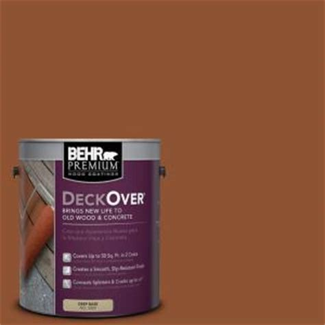 home depot messed up paint behr premium deckover 1 gal sc 122 redwood naturaltone