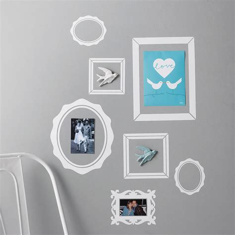 frame wall sticker pack of seven picture frame wall stickers by nutmeg