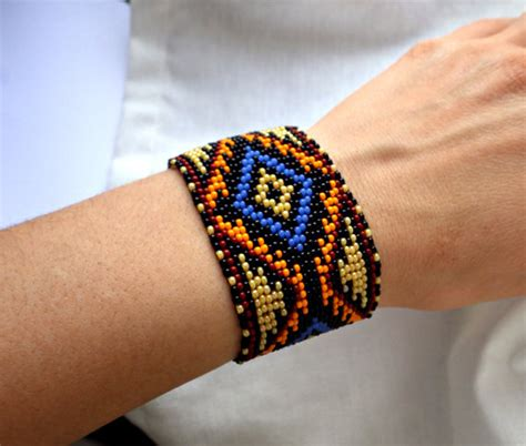 how to make american beaded bracelets american beaded bracelet pattern cuff bracelet