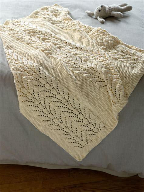 lionbrand free knit patterns lace knit baby blanket free pattern via brand yarn