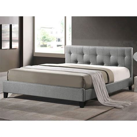 bed upholstered headboard baxton studio platform bed with upholstered