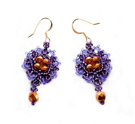 free beaded earring patterns free pattern for beaded earrings violet magic