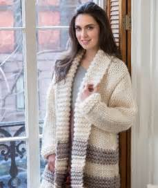 free chunky cardigan knitting pattern cozy car coat free knitting pattern from yarns