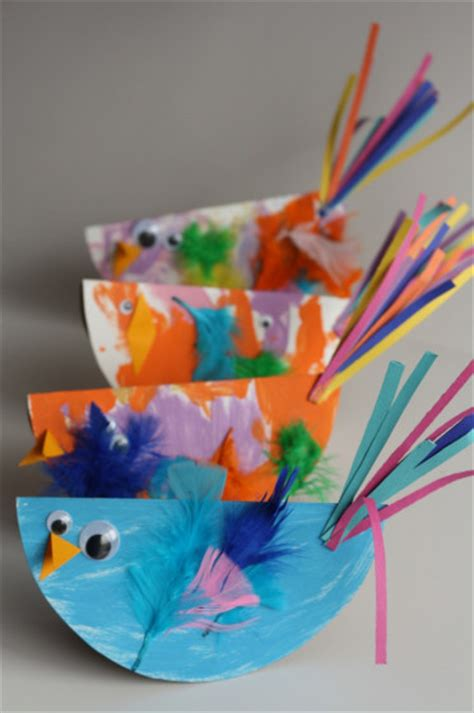 bird crafts for paper plate birds family crafts