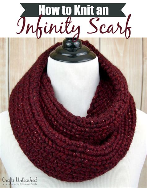 how to make a knit scarf how to knit an infinity scarf crafts unleashed