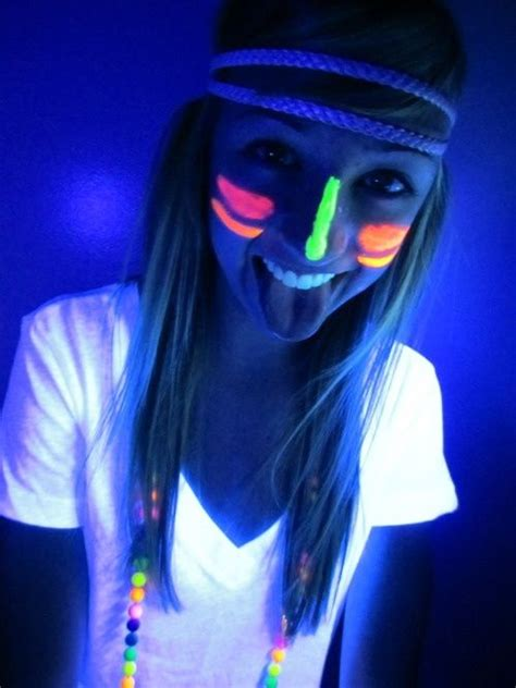 glow in the paint blacklight style for neon black light birthday http