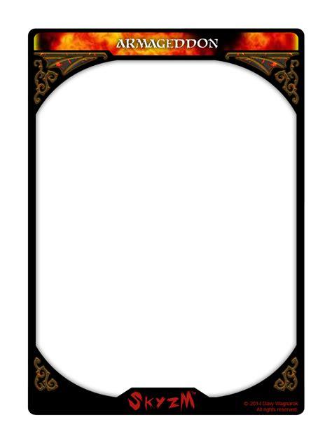 skyzm hoe hell armageddon card template by davywagnarok