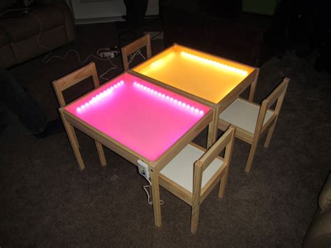 lights table hobby creations diy light table ikea hack
