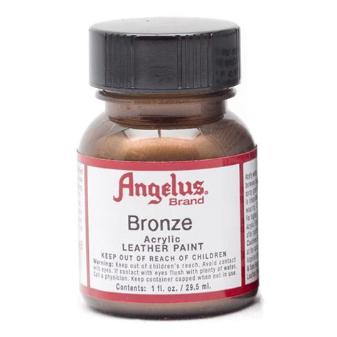 angelus leather paint how to use buy angelus leather paint 1 oz bronze