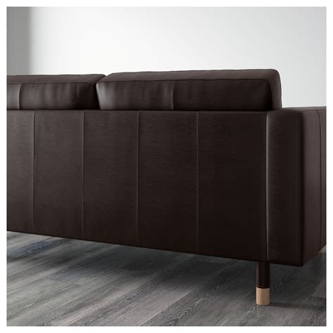 landskrona two seat sofa and chaise longue grann bomstad brown wood ikea