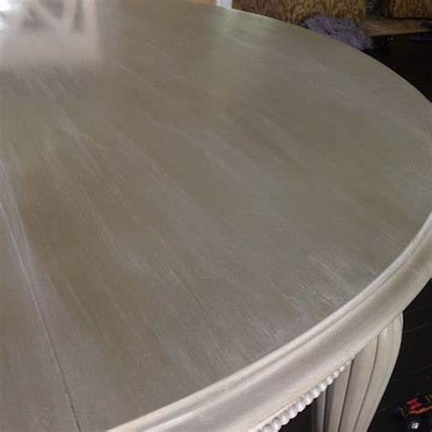 chalk paint wash a dining room table given a lovely color wash of