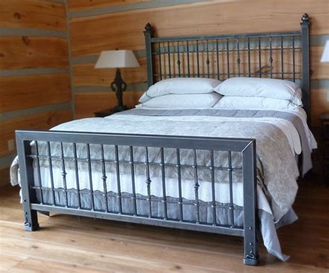 iron bed frame king crafted iron king size bed by desiron custom metal