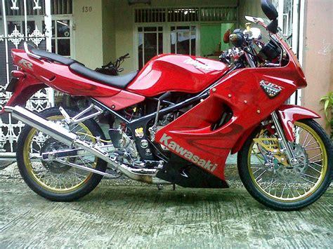 250 Rr Mono Modification by Modifikasi Motor Kawasaki Rr Merah Velg Jari Jari