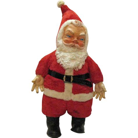large santa vintage large santa claus doll 1950s