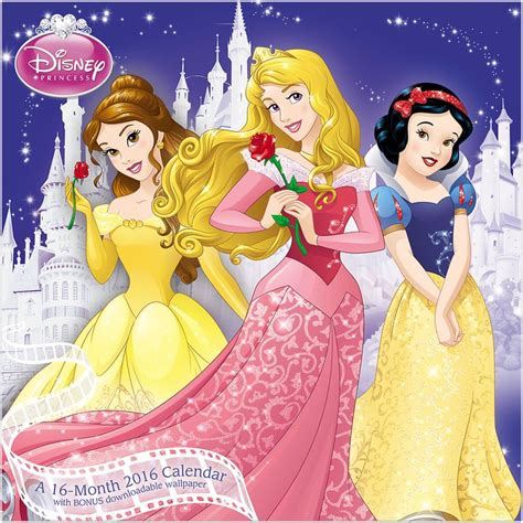 2018 disney princess wall calendar mead mead 174 2016 disney princess wall calendar cinderella
