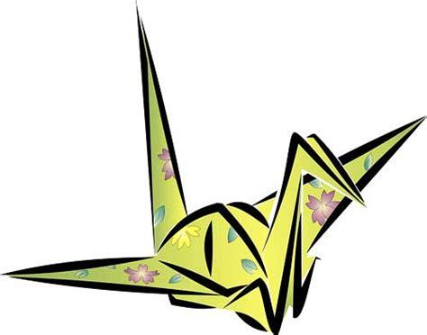 japanese origami crane origami cranes drawing