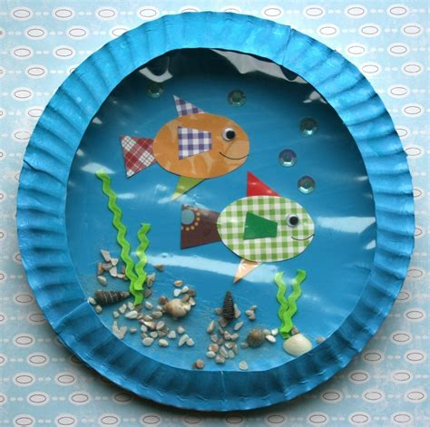 paper plate fish craft smart bottom enterprises fish aquarium classroom kit