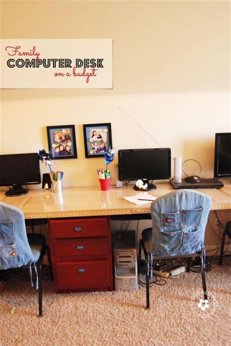 second computer desk diy computer desk station onecreativemommy