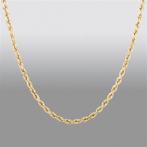 chain jewelry true gold 10k gold 20 inch rope chain jewelry pendants