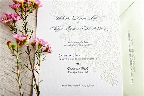 Modern Design Elements spring wedding invitations from campbell raw press