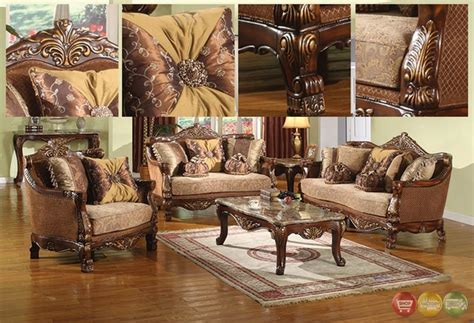 traditional living room furniture sets la petit traditional formal sofa set