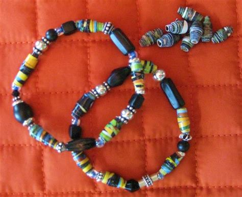 how to make paper bead jewelry make a recycled paper bead bracelet 6 steps with pictures