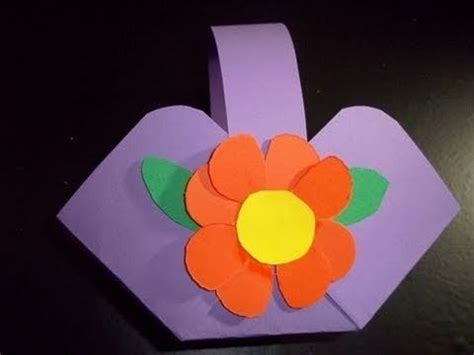 crafts made out of construction paper how to make a flower or basket out of construction