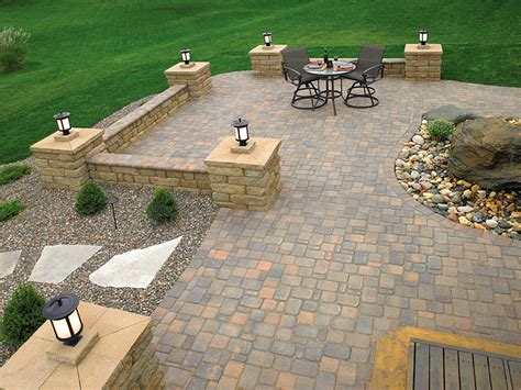 designs for patio pavers brick paver patio idea photo gallery enhance companies