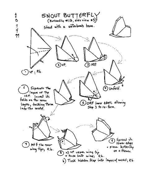 origami butterfly pdf origami butterfly