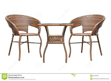 Rattan Coffee Table Set Royalty Free Stock Image   Image: 34487826