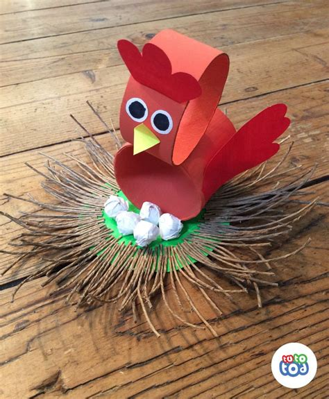 crafts for with paper 25 unique chicken crafts ideas on chicken