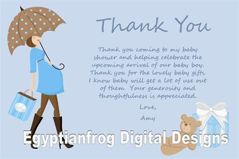 Message For Baby Shower Thank You Cards by Blue Baby Bump Pregnancy Baby Shower Thank You Notes You