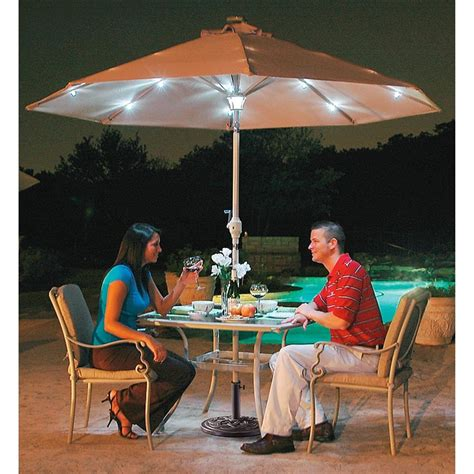 patio umbrellas with solar lights 9 solar patio umbrella with center light 199845 patio