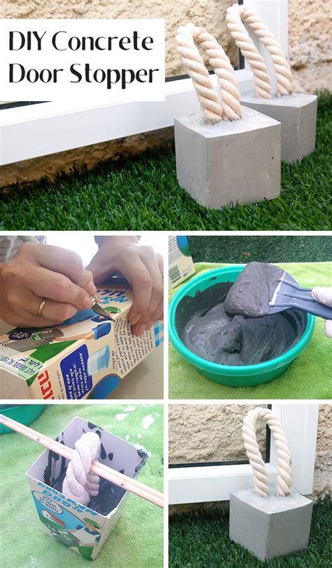 concrete craft projects best 25 door stopper ideas on diy doorstop