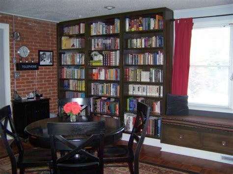 bookshelves in dining room diy bookshelves in dining room with wood furnitures