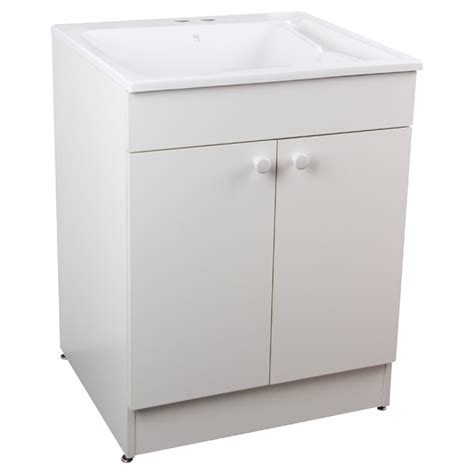 laundry cabinet with laundry sink with cabinet and faucet 24 quot white rona